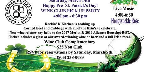 Pre - St. Patrick's Day Dinner and Pick-up Party tickets
