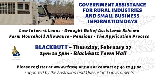Blackbutt Government Assistance Info Day