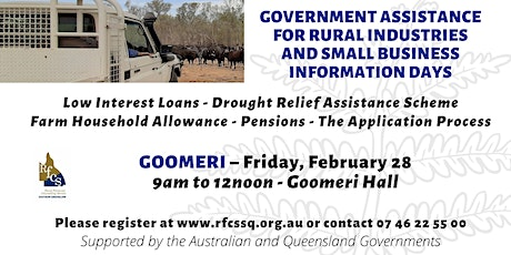 Goomeri Government Assistance Info Day tickets