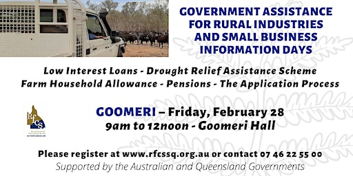 Goomeri Government Assistance Info Day