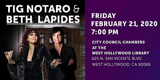 TIG NOTARO IN CONVERSATION WITH BETH LAPIDES