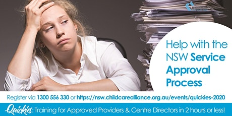 Quickies: Help with NSW's Service Provider Approval Process tickets