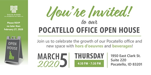 David Evans and Associates  Pocatello, ID Open House
