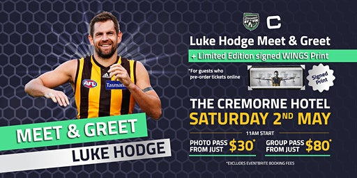 Limited Number Remaining - Luke Hodge Meet and Greet