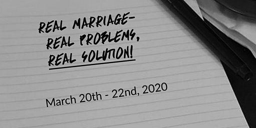 Marriage Conference (Real Problems, a Real Solution)