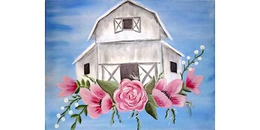 """3/23 - Corks and Canvas Event @ Hidden Vine Bistro, Marysville """"Barn in Bloom"""""""