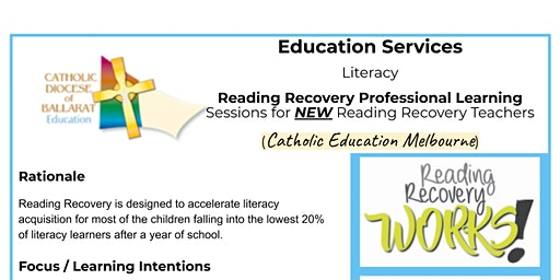 Reading Recovery Professional Learning for NEW teachers - Melbourne