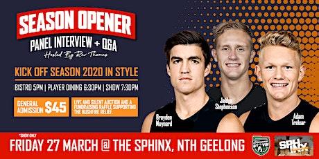 Adam Treloar, Brayden Maynard + Jaidyn Stephenson LIVE at Sphinx Hotel! tickets