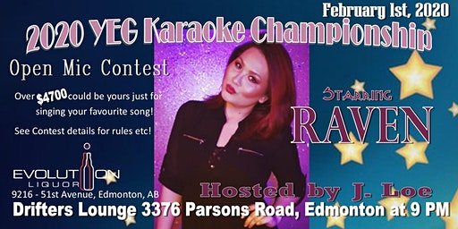 YEG Karaoke Night Hosted By J. Loe, Starring Raven