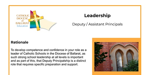 Deputy / Assistant Principals Professional Learning