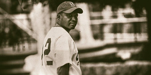 Mike Wiley as Jackie Robinson in A GAME APART