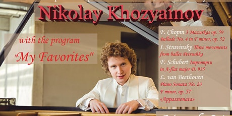 "Nikolay Khozyainov with the program ""My Favorites"" in Victoria tickets"