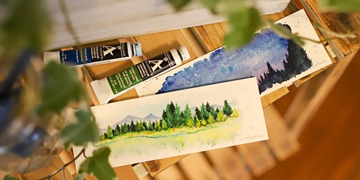 Learn to Paint Watercolor Bookmarks