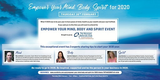 Empower Your Mind Body and Spirit for 2020
