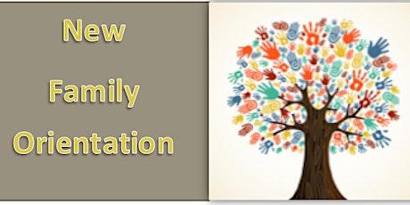 New Family Orientation tickets