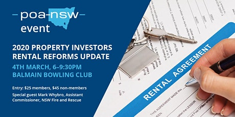 2020 Property Investors Update -Rental Reforms-Seminar-Networking tickets