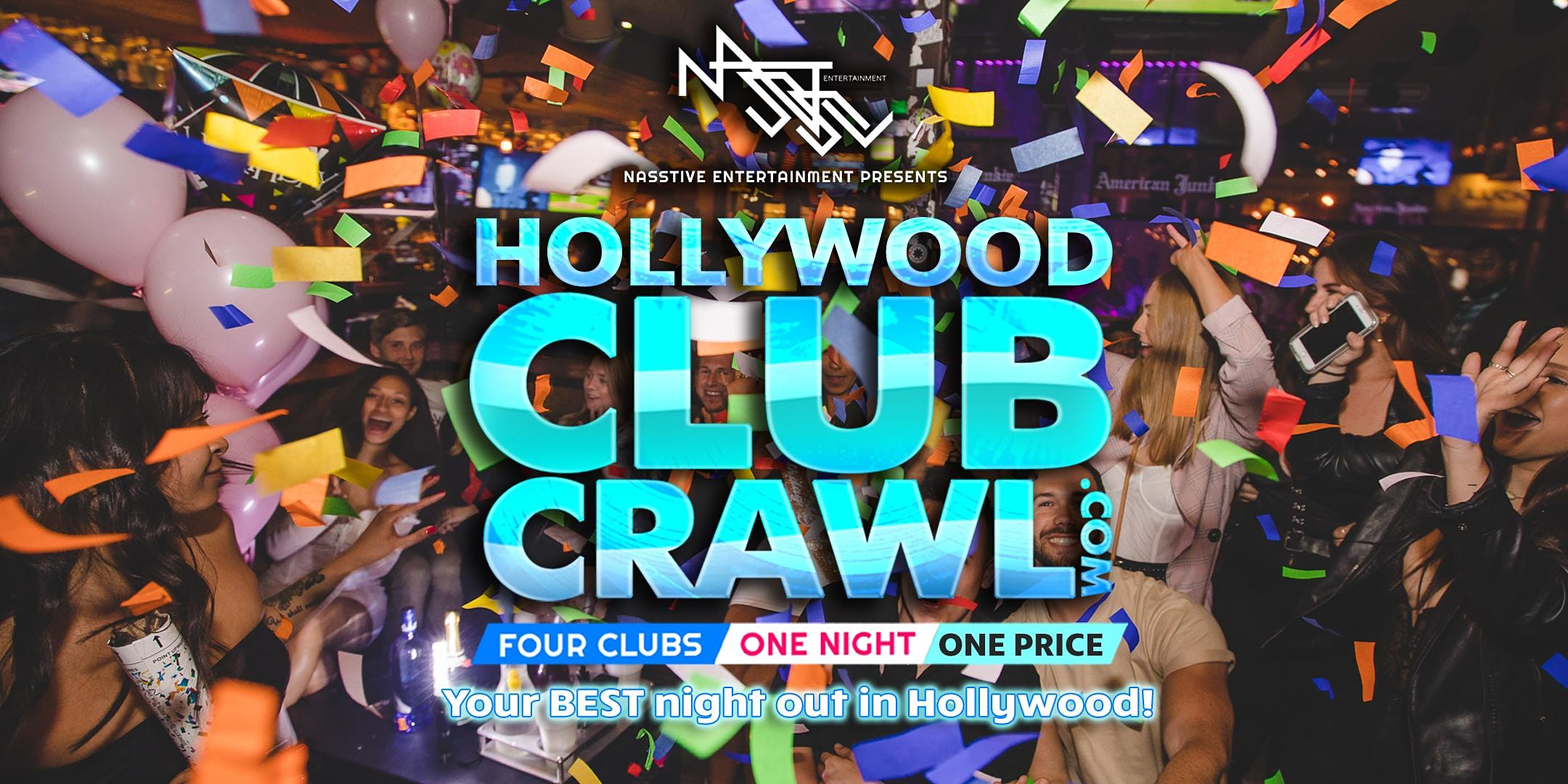Hollywood Club Crawl - Guided party tour to 4 Hollywood nightclubs and bars