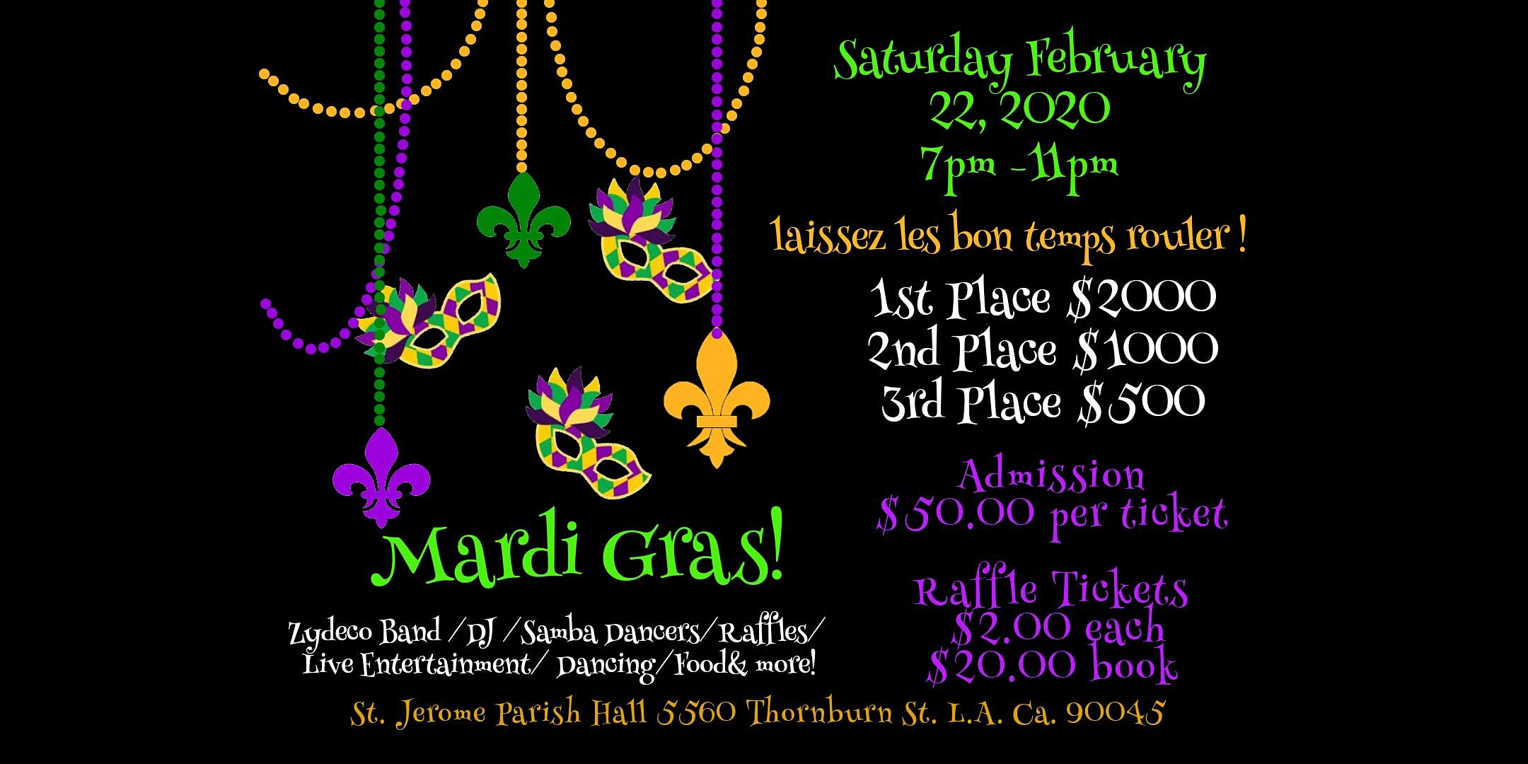 St. Jerome Annual Mardi Gras Fundraiser Party!
