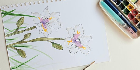 Gorgeous Botanical Illustration Watercolour Workshop for beginners tickets