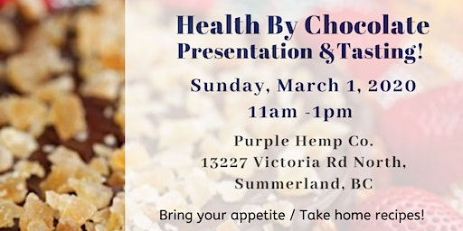 Health By Chocolate - Presentation & Tasting!