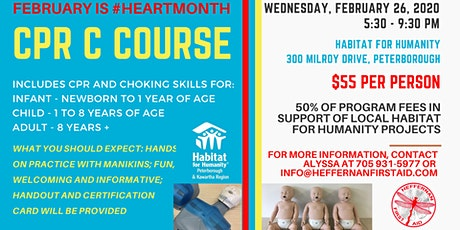CPR C Course in Support of Habitat for Humanity tickets