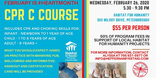 CPR C Course in Support of Habitat for Humanity
