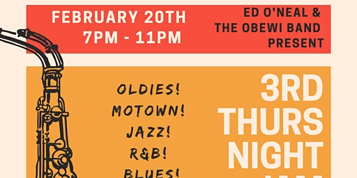 """Conyers 3rd Thursday Night Jam Open Mic Dance Party with """"THE OBEWI BAND"""" @"""