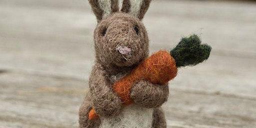 Needle Felting Bunny Class Take Two