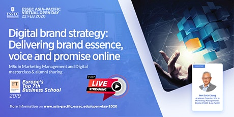 """""""Digital brand strategy: Delivering brand essence, voice and promise online"""" - ESSEC MSc in Marketing, Management & Digital Masterclass tickets"""