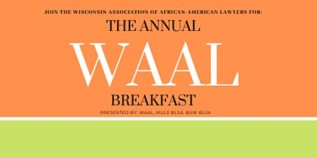The Annual WAAL Breakfast 2020 tickets