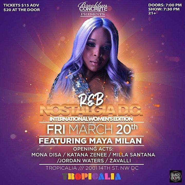 R&B Nostalgia D.C. Featuring Maya Milan image