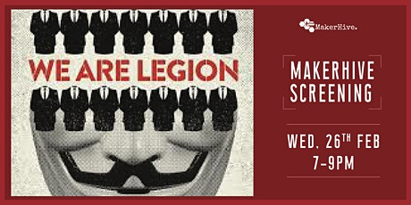 Postponed | Screening : We Are Legion - The Story of the Hacktivists tickets