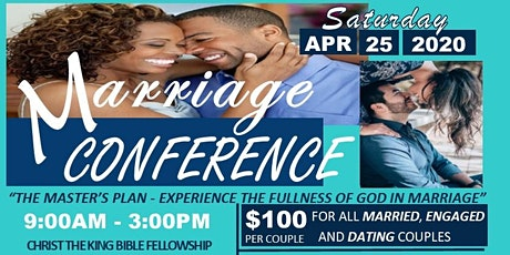 The Master's Plan : Experience the Fullness of God in Your Marriage.  tickets