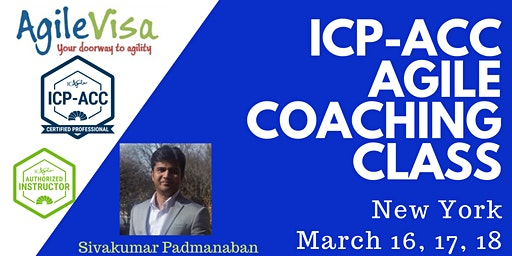 ICAgile ICP-ACC Agile Coach Certification Workshop - New York