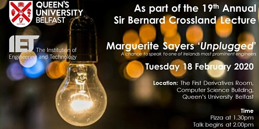 Sir Bernard Crossland Unplugged Student-only Event