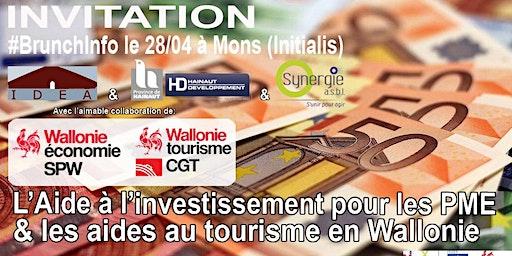 #BrunchInfo du 28/04 : L' aide à l'investissement & les aides au Tourisme