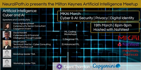 MKAI March | Artificial Intelligence Meetup | Cyber & AI: Digital Indentity tickets