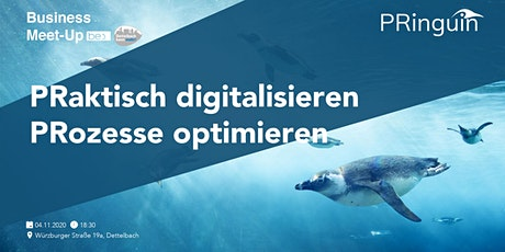 "be content featuring PRinguin PRaktisch digitalisieren""PRozesse optimieren"" Tickets"