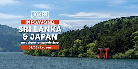 Infoavond over Sri Lanka en Japan in Leuven - rondreizen met eigen reisgezelschap  tickets