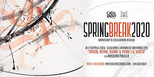 """Spring Break 2020 - Calligrafia con Massimo Polello """"Spazio, Ritmo, Segno"""""""