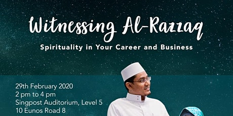Witnessing Al-Razzaq: Spirituality in your Career and Business tickets