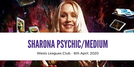 Sharona Psychic/Medium @ Wests Leagues Club 8th April, 2020 7.30pm tickets