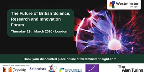 The Future of British Science, Research and Innovation tickets