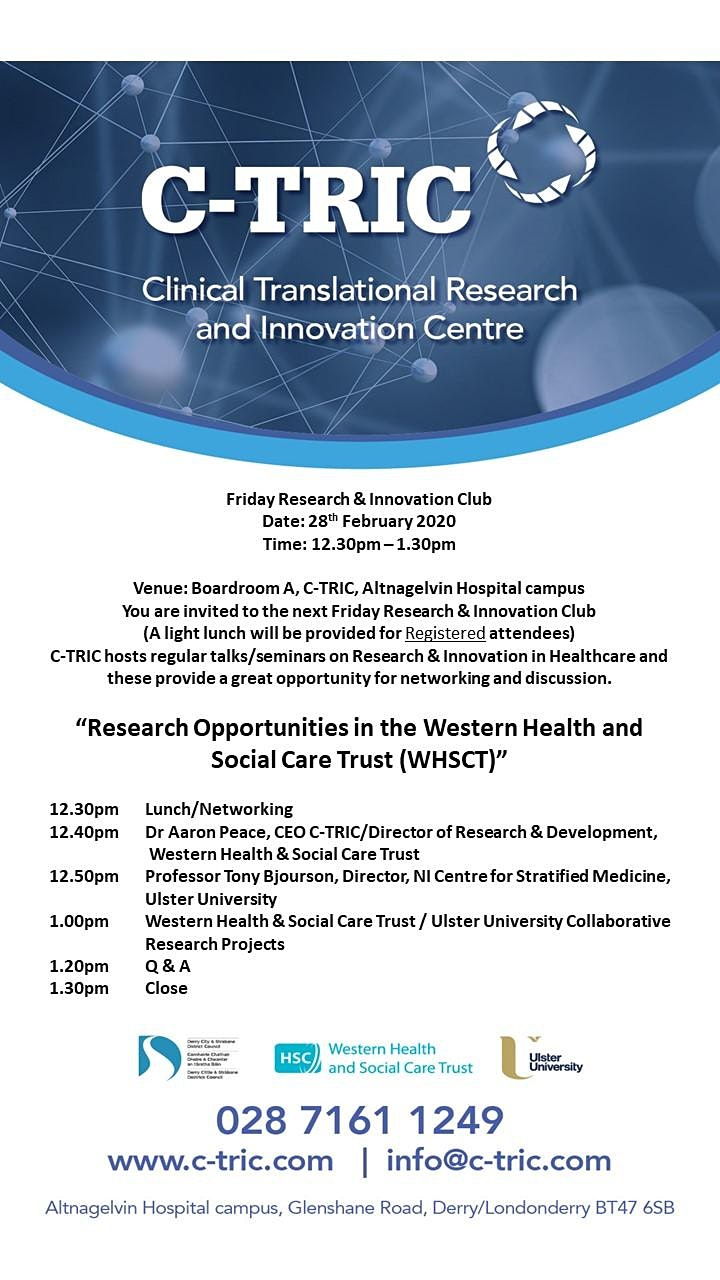 C-TRIC - Friday Research and Innovation Club image