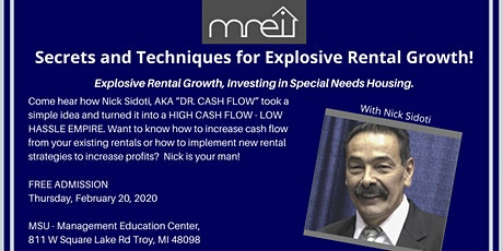 Secrets and Techniques for Explosive Rental Growth with Nick Sidoti! tickets