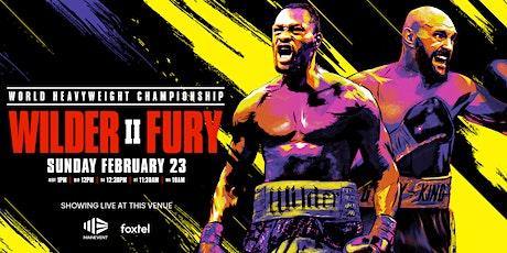 Wilder vs Fury 2 LIVE & LOUD tickets