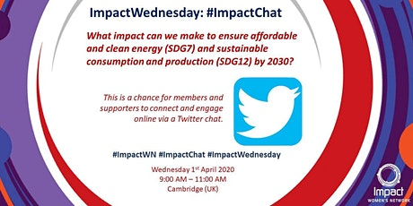 1st April 2020 #ImpactChat (Twitter Chat) - Impact Women's Network tickets