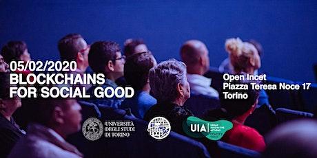 Blockchains for social good Torino biglietti