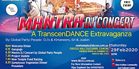 MANTRA DJ CONCERT - A TranscenDANCE EXTRAVAGANZA  by GLOBAL PARTY PEOPLE tickets