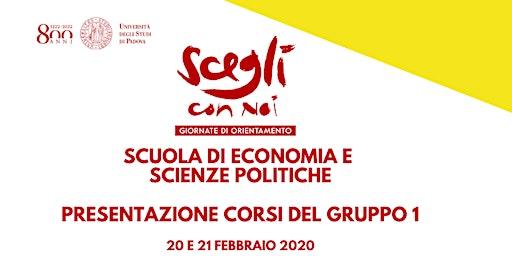 SCEGLI CON NOI - ECONOMIA E SCIENZE POLITICHE - Gruppo 1